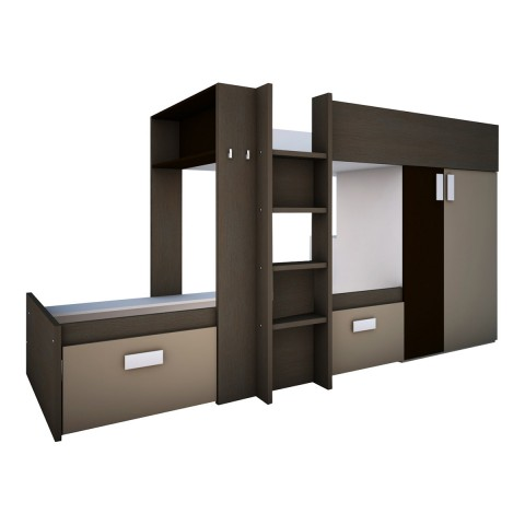 BO3 Bunk Twin Over Twin Bed (2 Mattresses included)