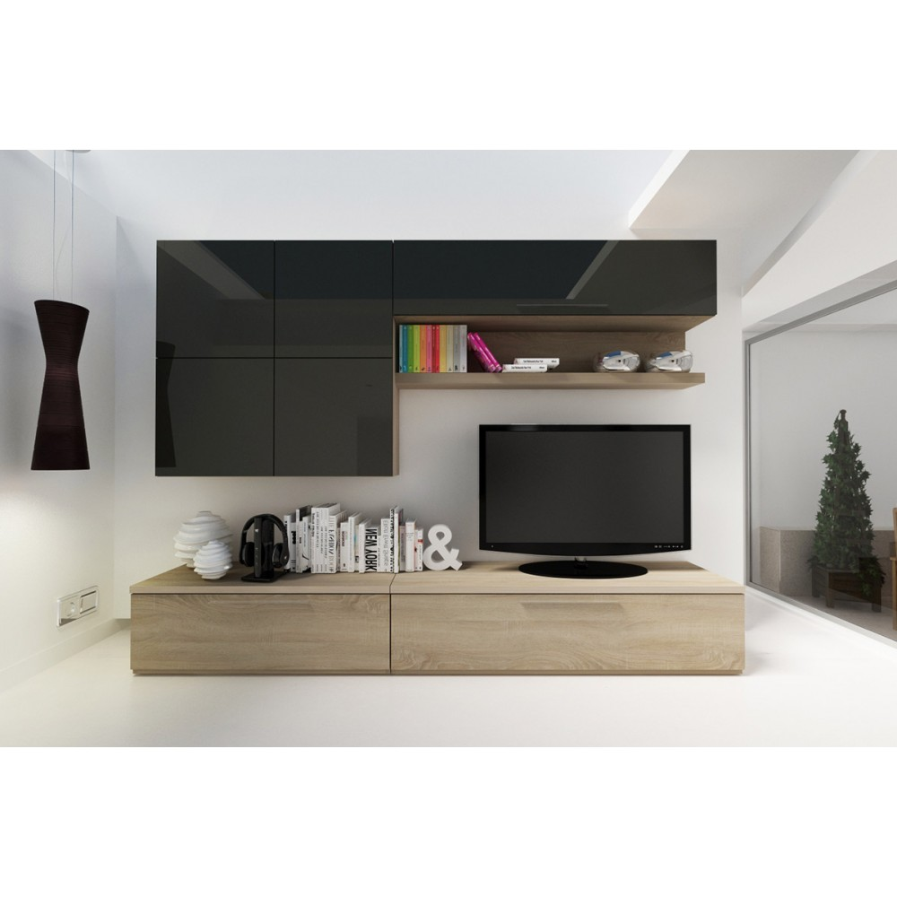 A Japanese Inspired Apartment With Plenty Storage Systems: Isola TV Wall Unit